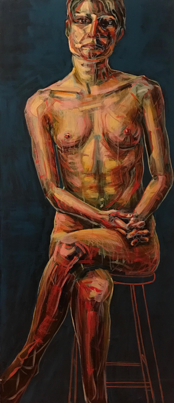 "Untitled    acrylic on canvas   60"" x 24"""