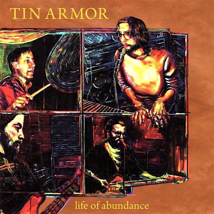 """Tin Armor Album Cover   acrylic on canvas   30"""" x 30"""""""