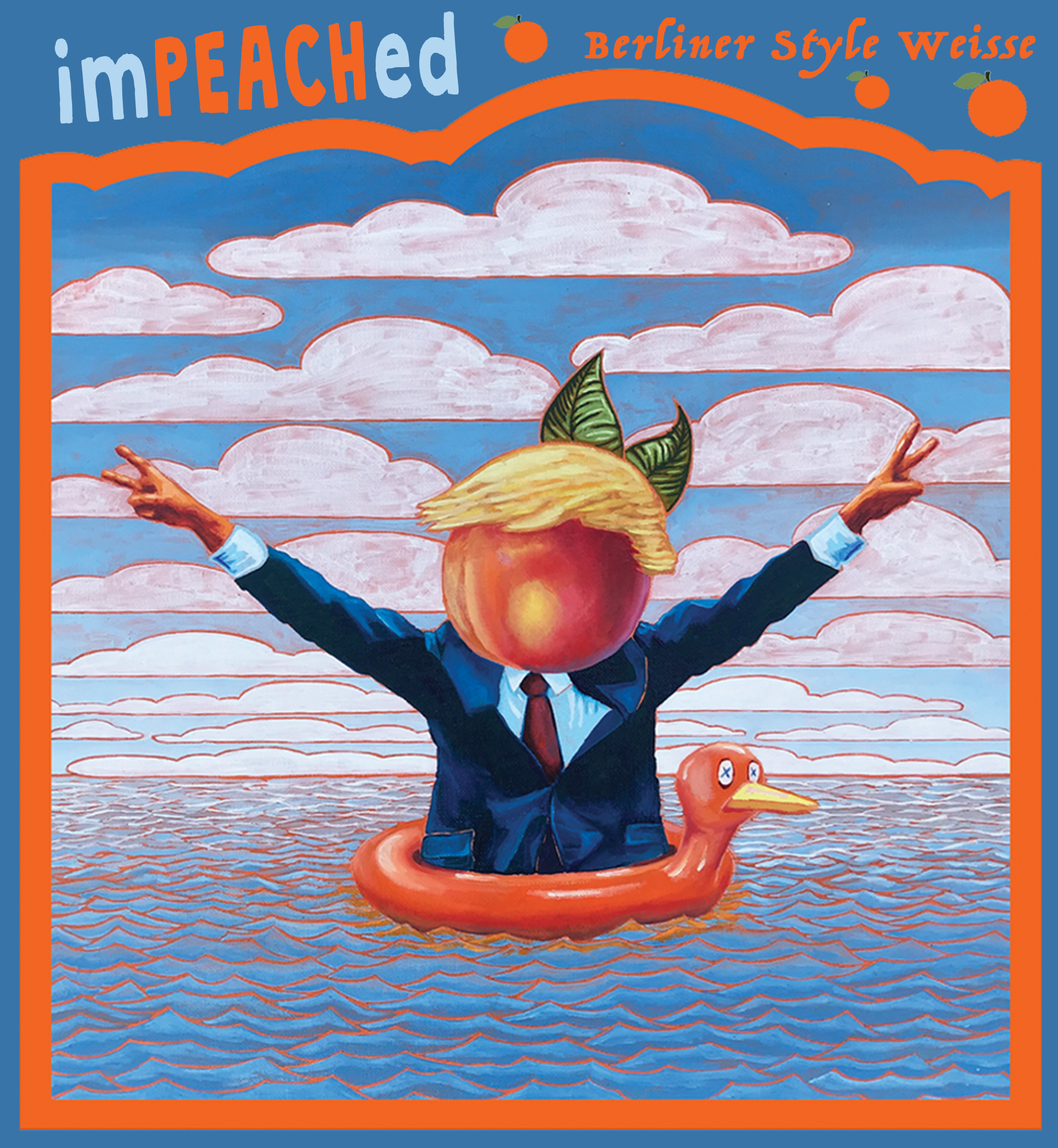 imPEACHed Goza Beer Label  | Freigeist Brewery | Stolberg, Germany | 2019