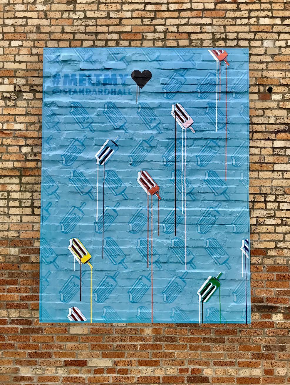 Melt My Heart  | Vinyl Mural | Standard Hall Restaurant | Columbus, OH