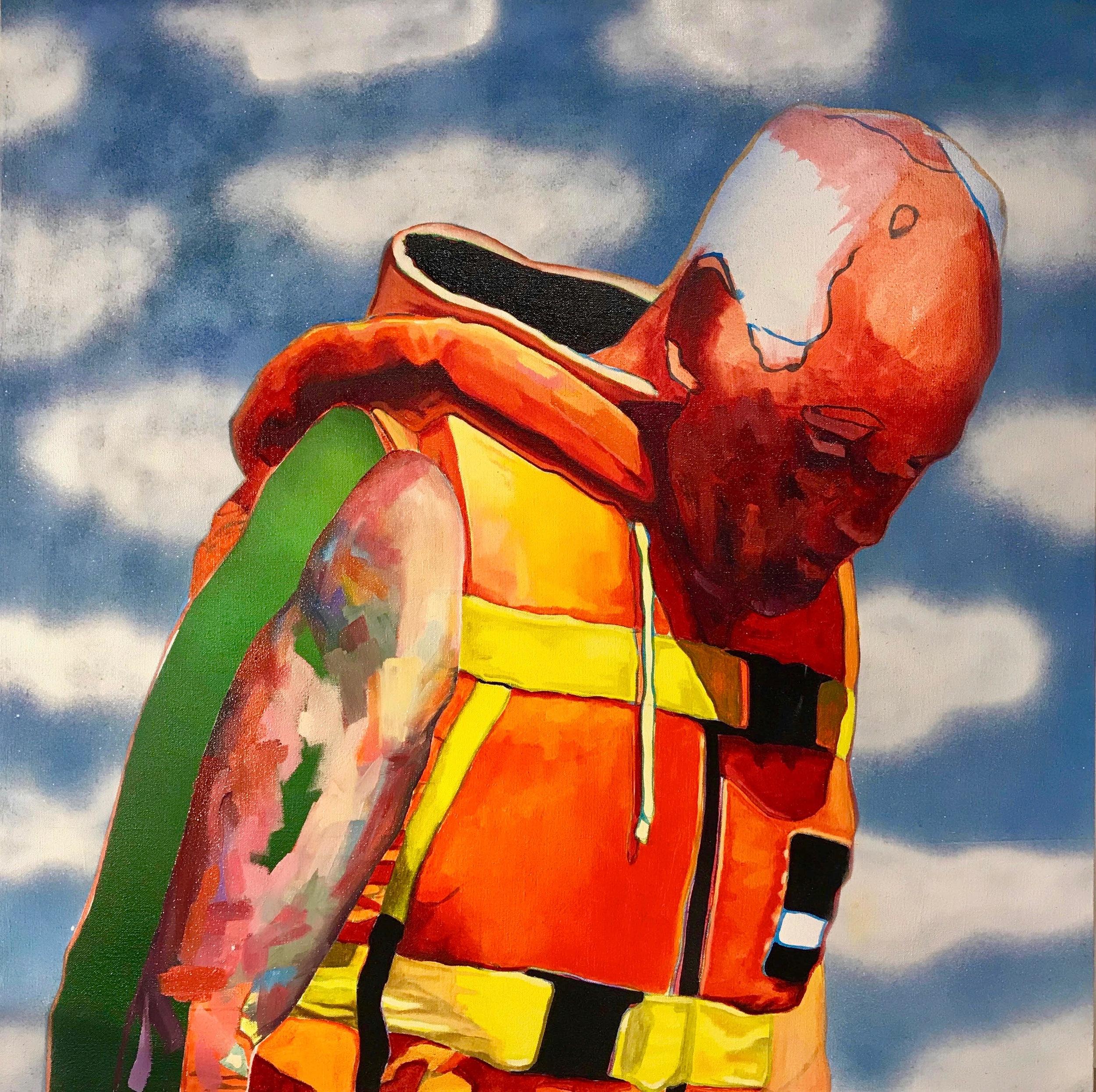 "Untitled    oil & aerosol on canvas   36"" x 36"""