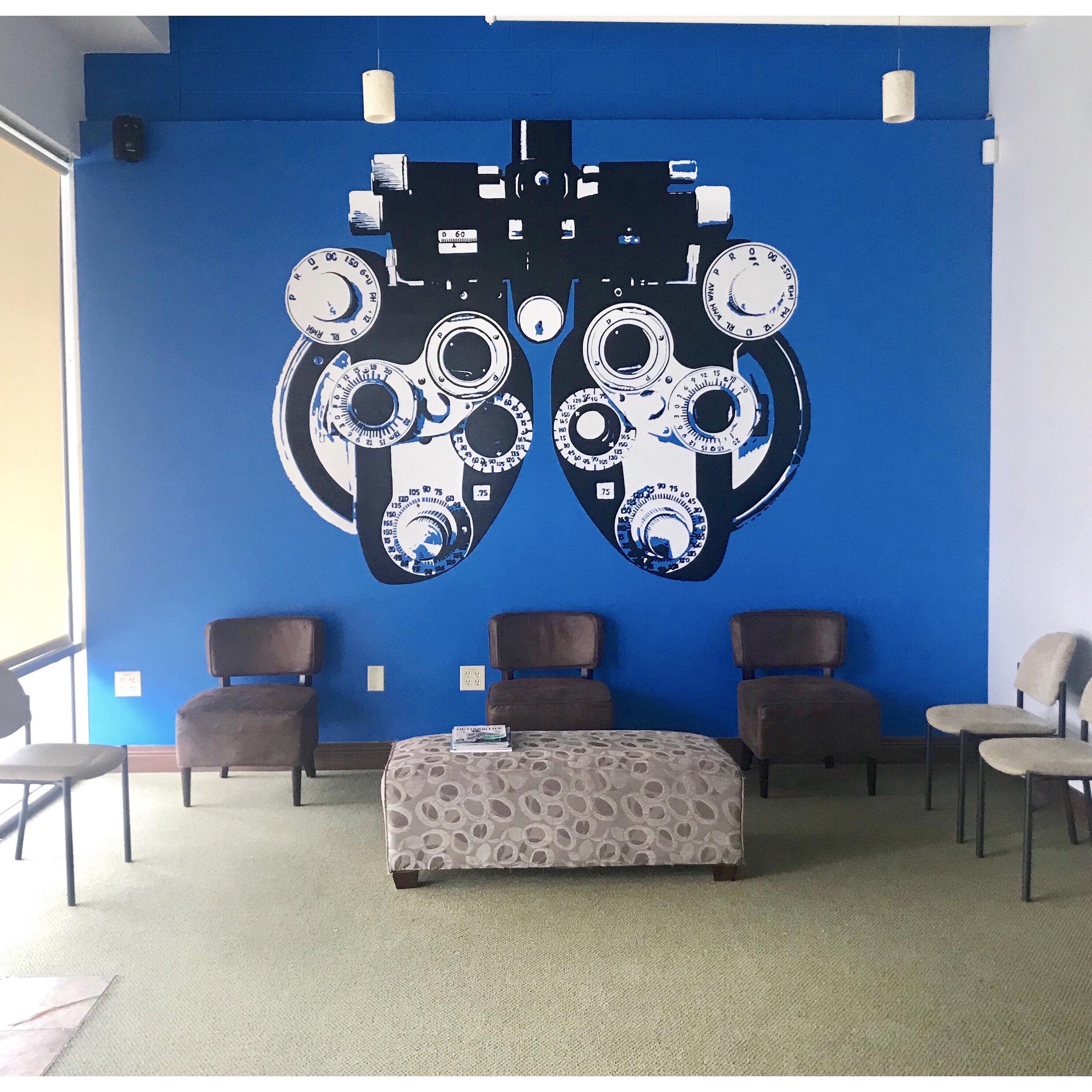 Phoropter  | Oil Based Enamel | Perigo Family Eye Care | Grove City, Ohio