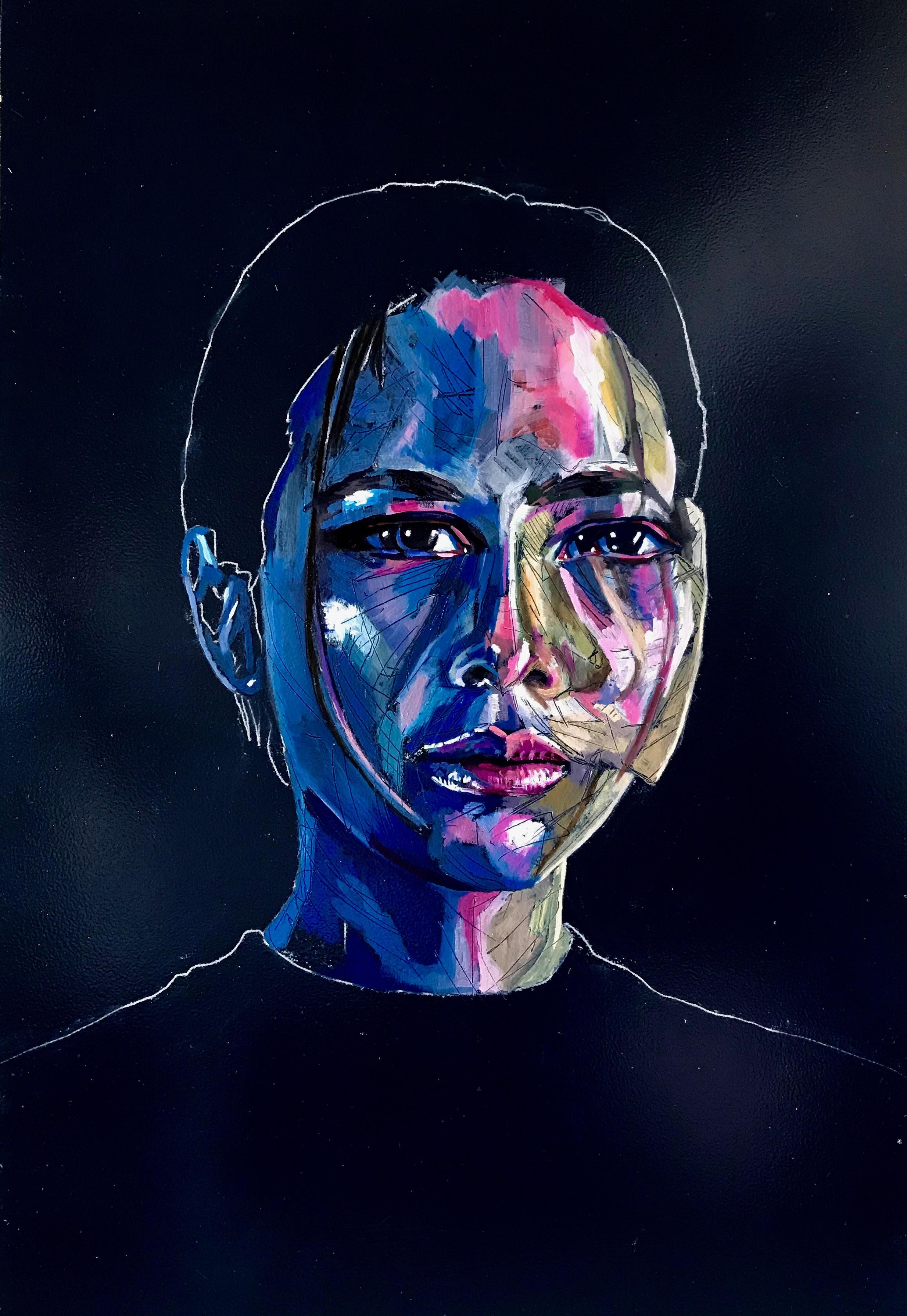 "Untitled  | oil on panel | 16"" x 24"""