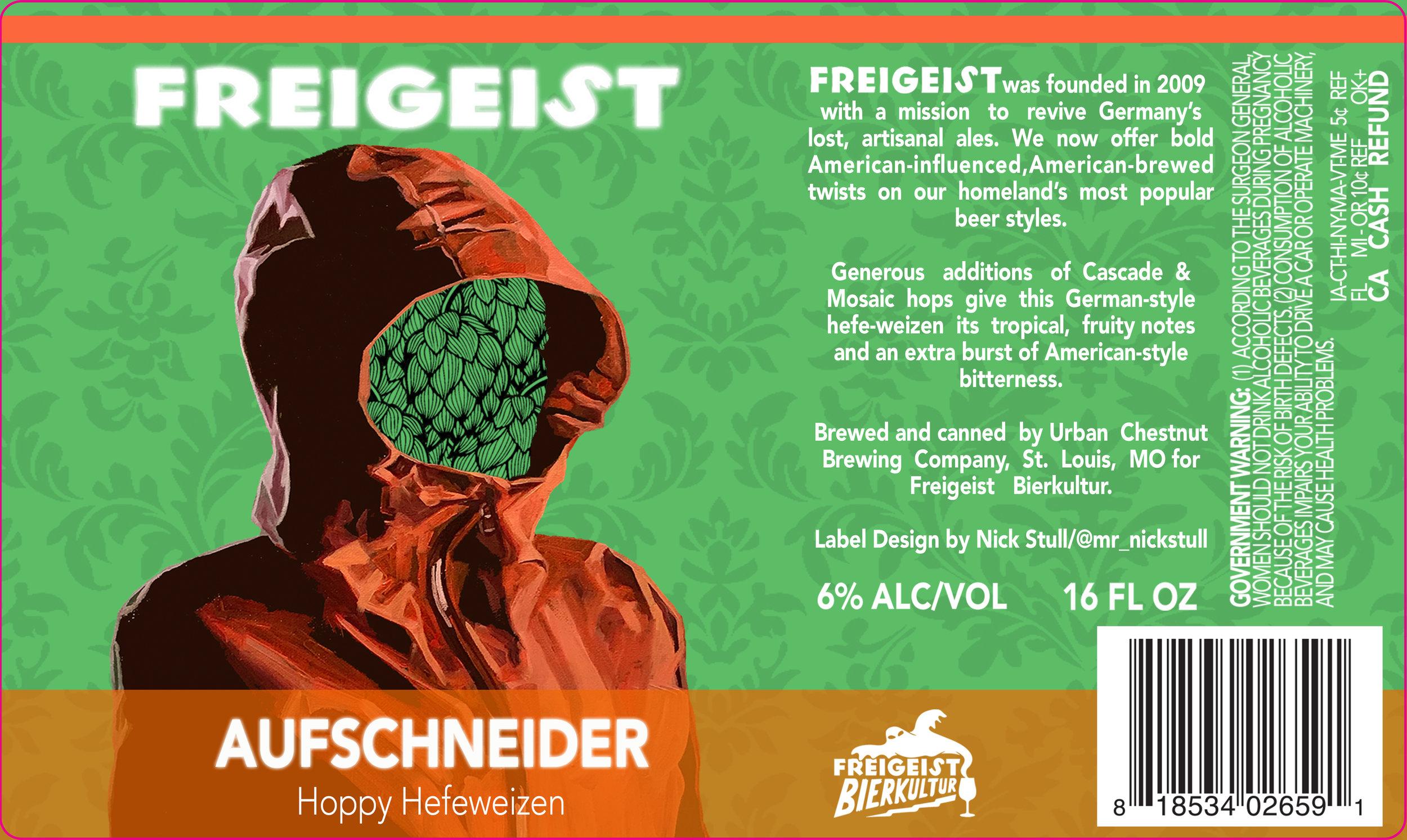 Aufschneider |  Beer Label | Freigeist Brewery | Stolberg, Germany