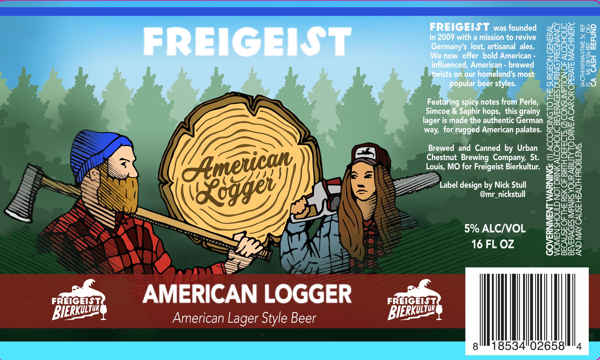 American Logger | Beer Label | Freigeist Brewery | Stolberg, Germany