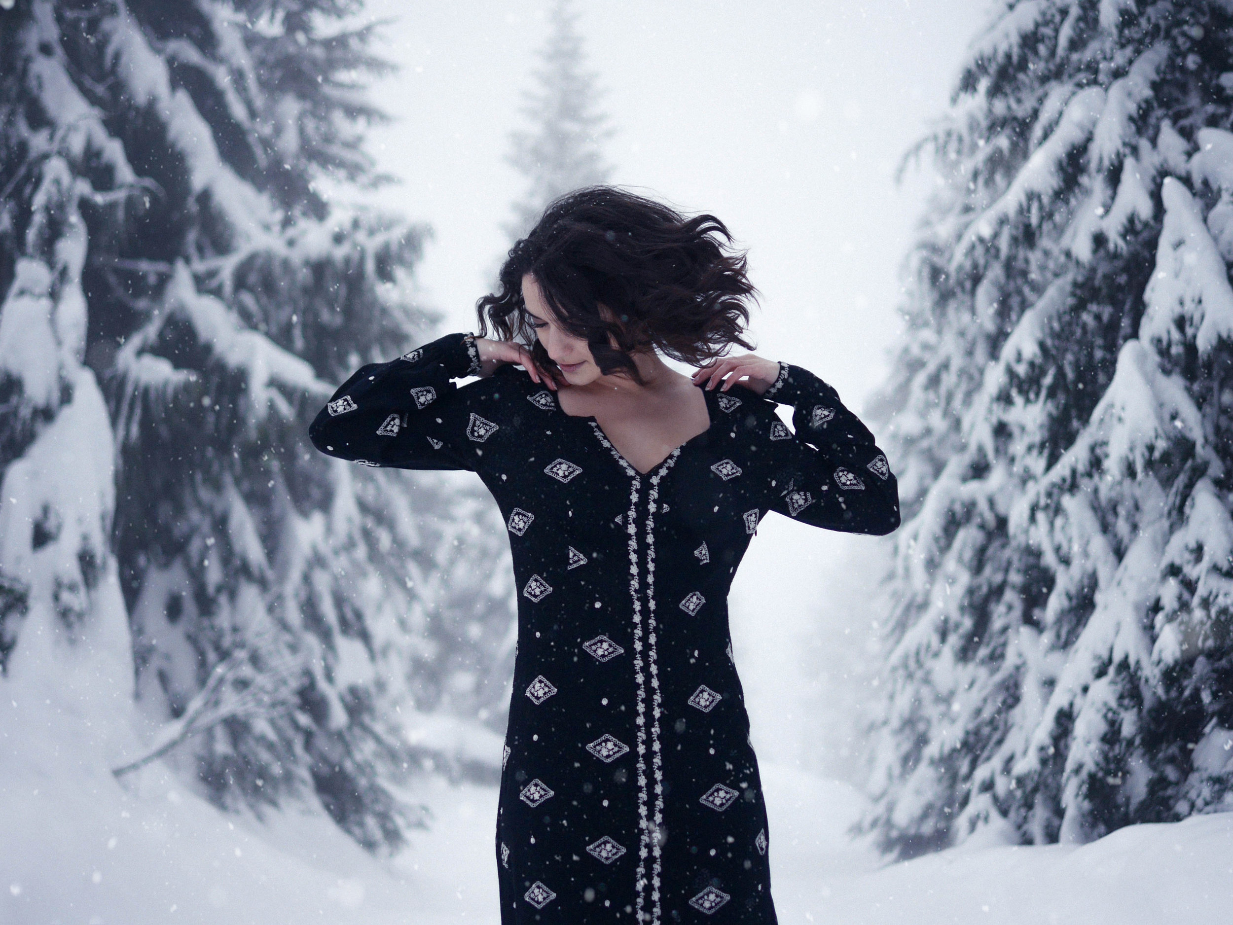 Winter Modeling Photography