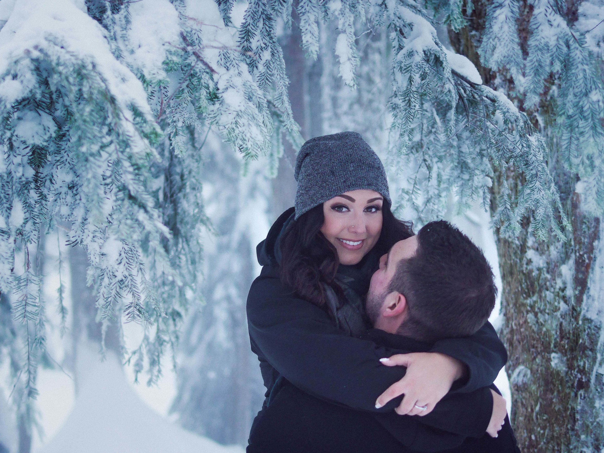 Winter Vancouver Engagement Photographer