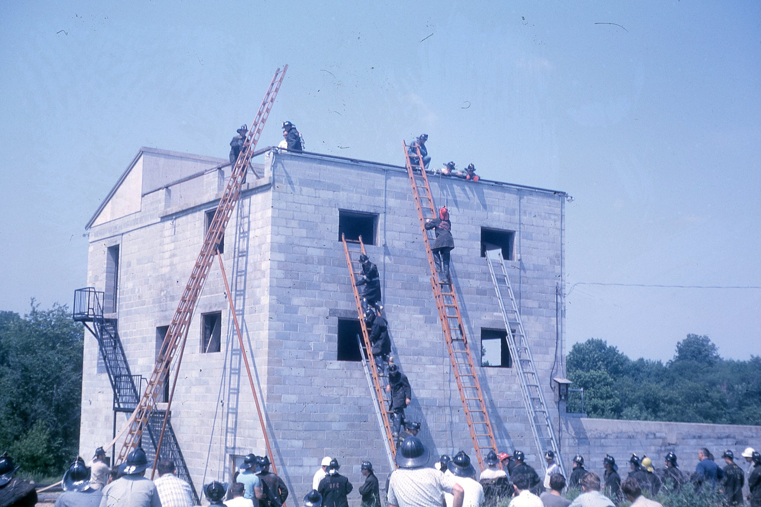 1963 Ladders at Fire School Picture 4.jpg