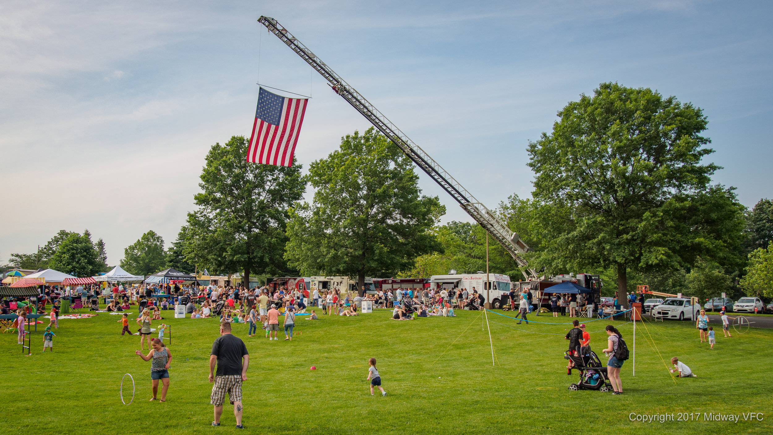 2017.06.22 - Peddler's Village held a successful fund raising event for Midway Volunteer Fire Department. A portion of the proceeds from the evening's events will go to the fire company in support of Midway's fire/rescue work in Buckingham and Solebury Townships.