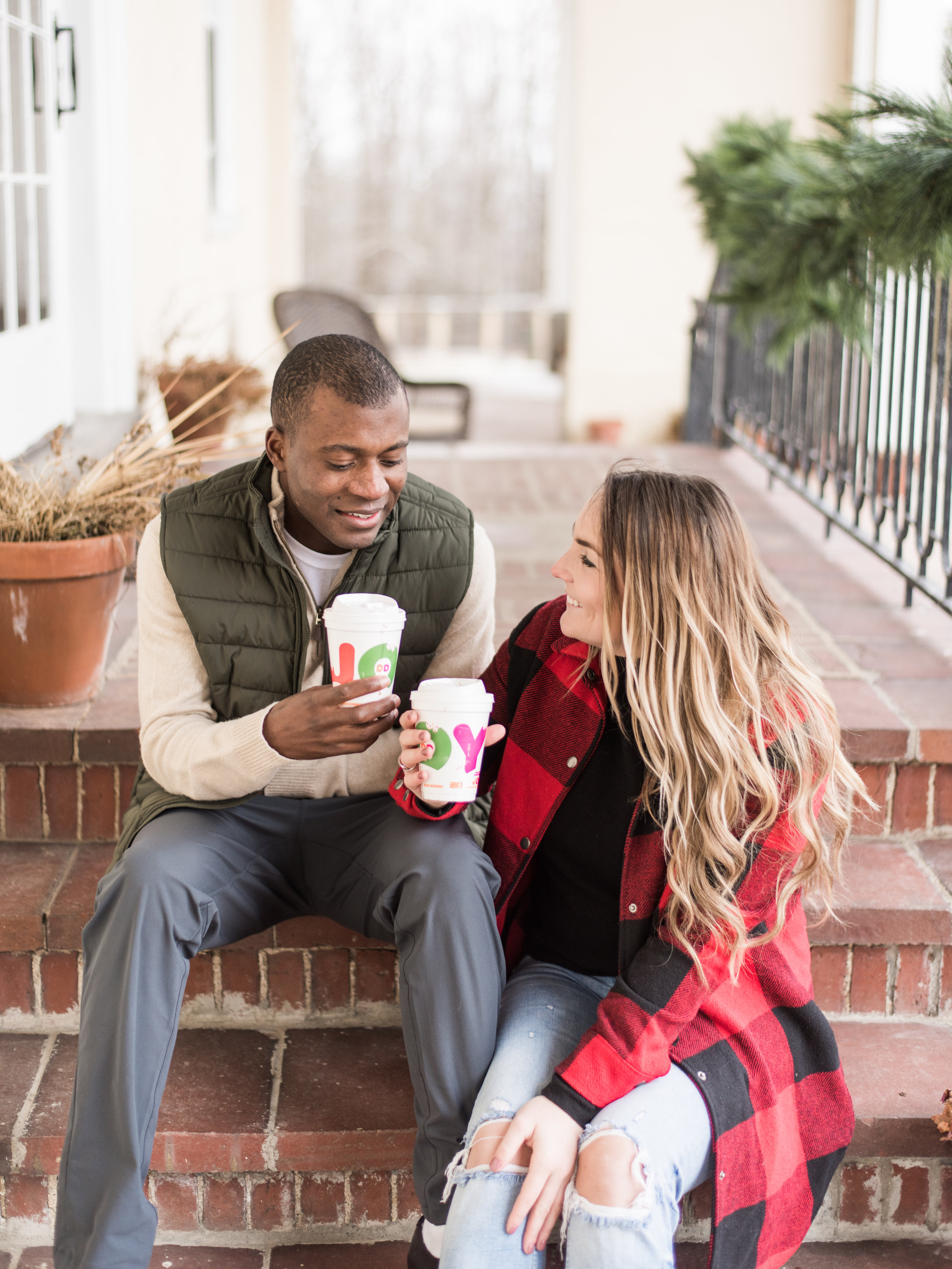 dunkin donuts engagement session