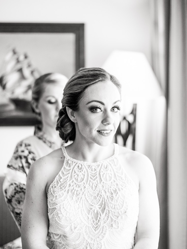 Bride getting ready for her destination wedding in Cancun Mexico