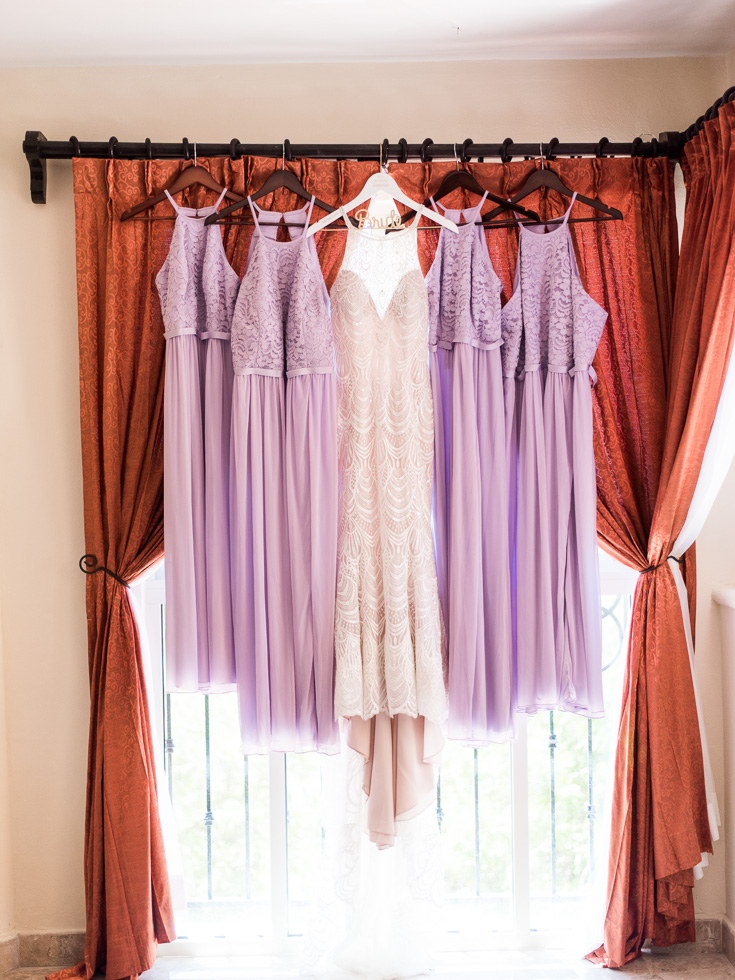Purple bridesmaid wedding dresses