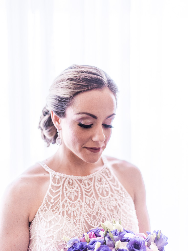 Flawless bridal hair and make up for this adventurous bride getting married in Cancun!