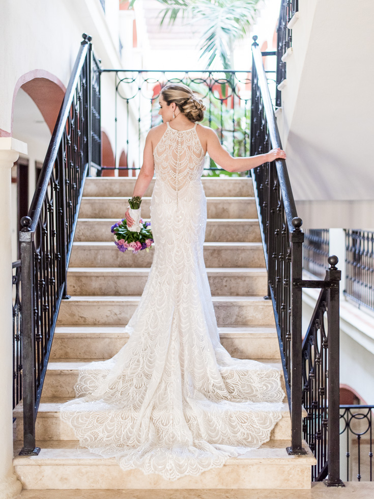 Gorgeous and elegant wedding dress designed by Lori Allen from Bridals by Lori in Atlanta Georgia