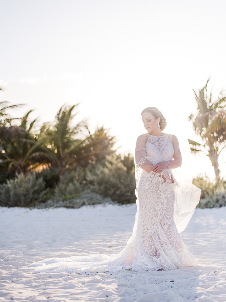 Flawless bride in Mexico
