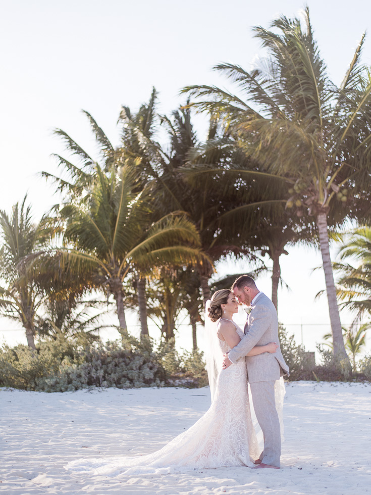 Wedding photography on a beach in Mexico