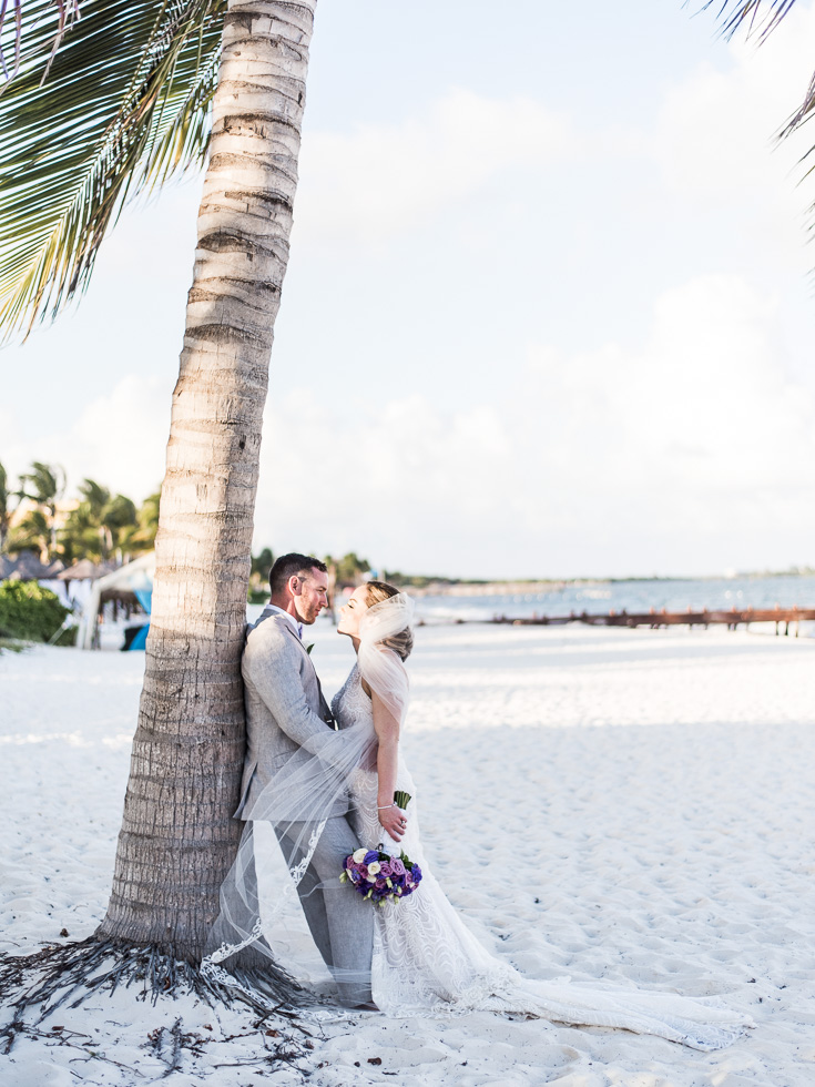 Destination wedding photographer based in Atlanta, Georgia travels to Cancun, Mexico for gorgeous beach wedding in April