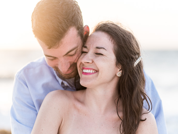 Beach engagement pictures in Cancun Mexico