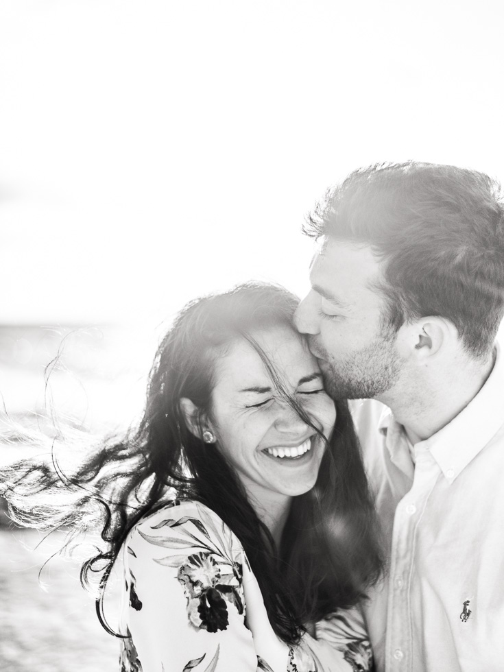 beautiful black and white engagement pictures