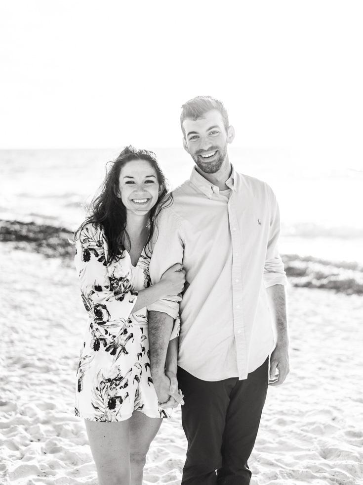dreamy black and white couple photos
