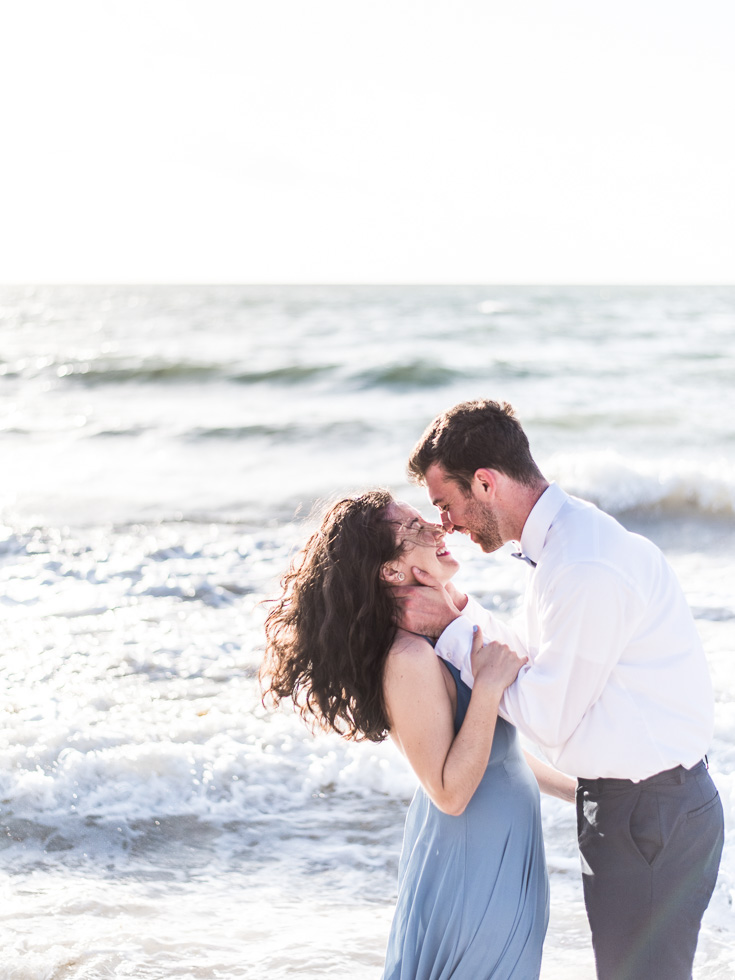 Engagement Photography in the ocean