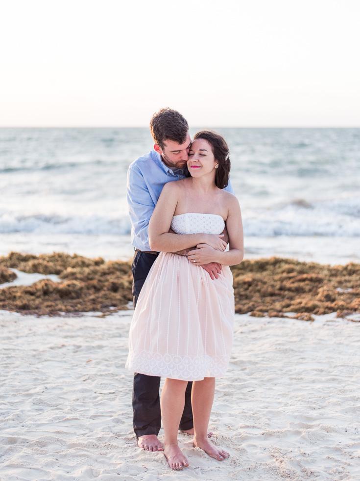 Sunrise beach engagement photos