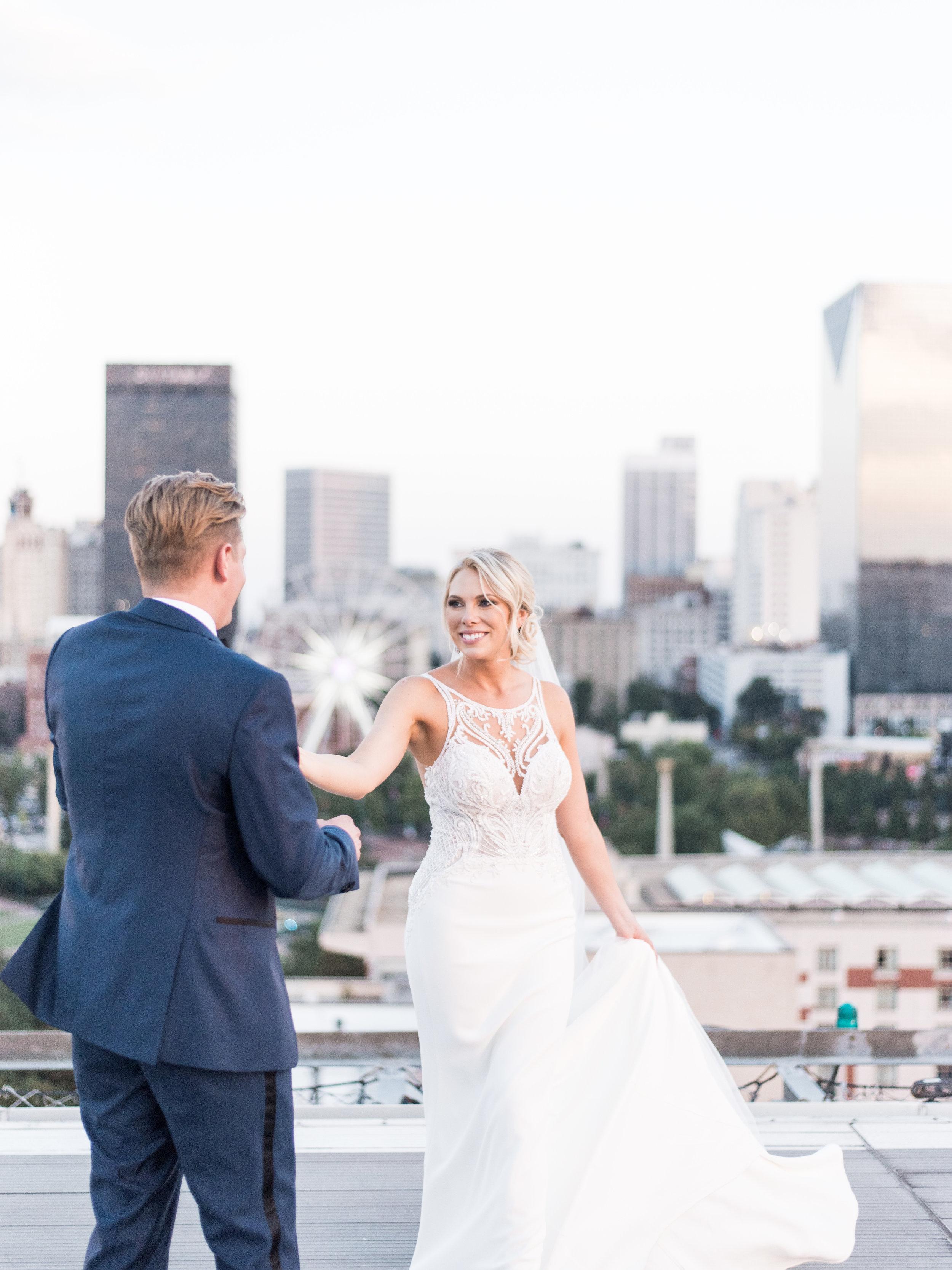 Atlanta Skyline wedding photos