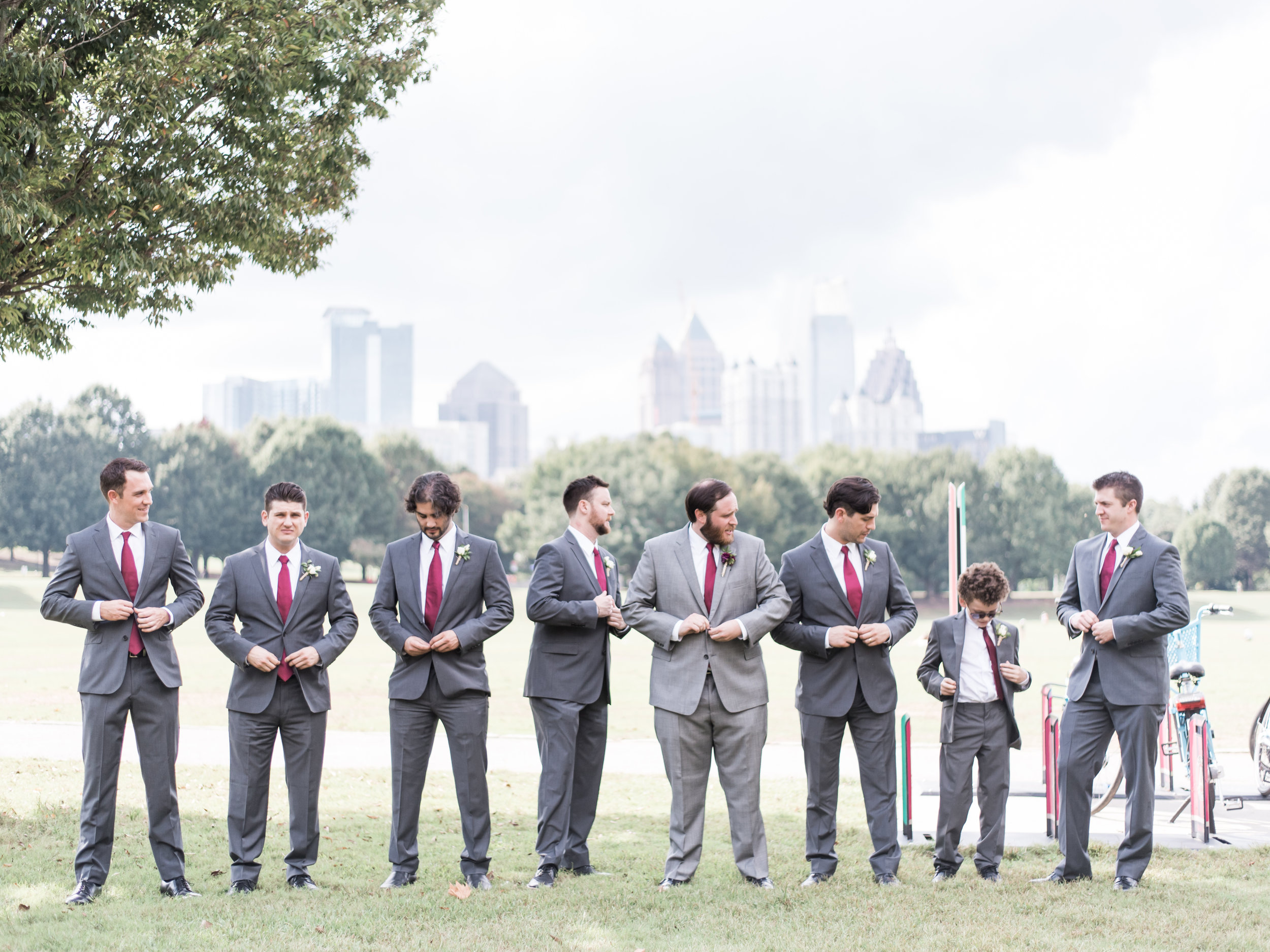 Piedmont Park wedding photos