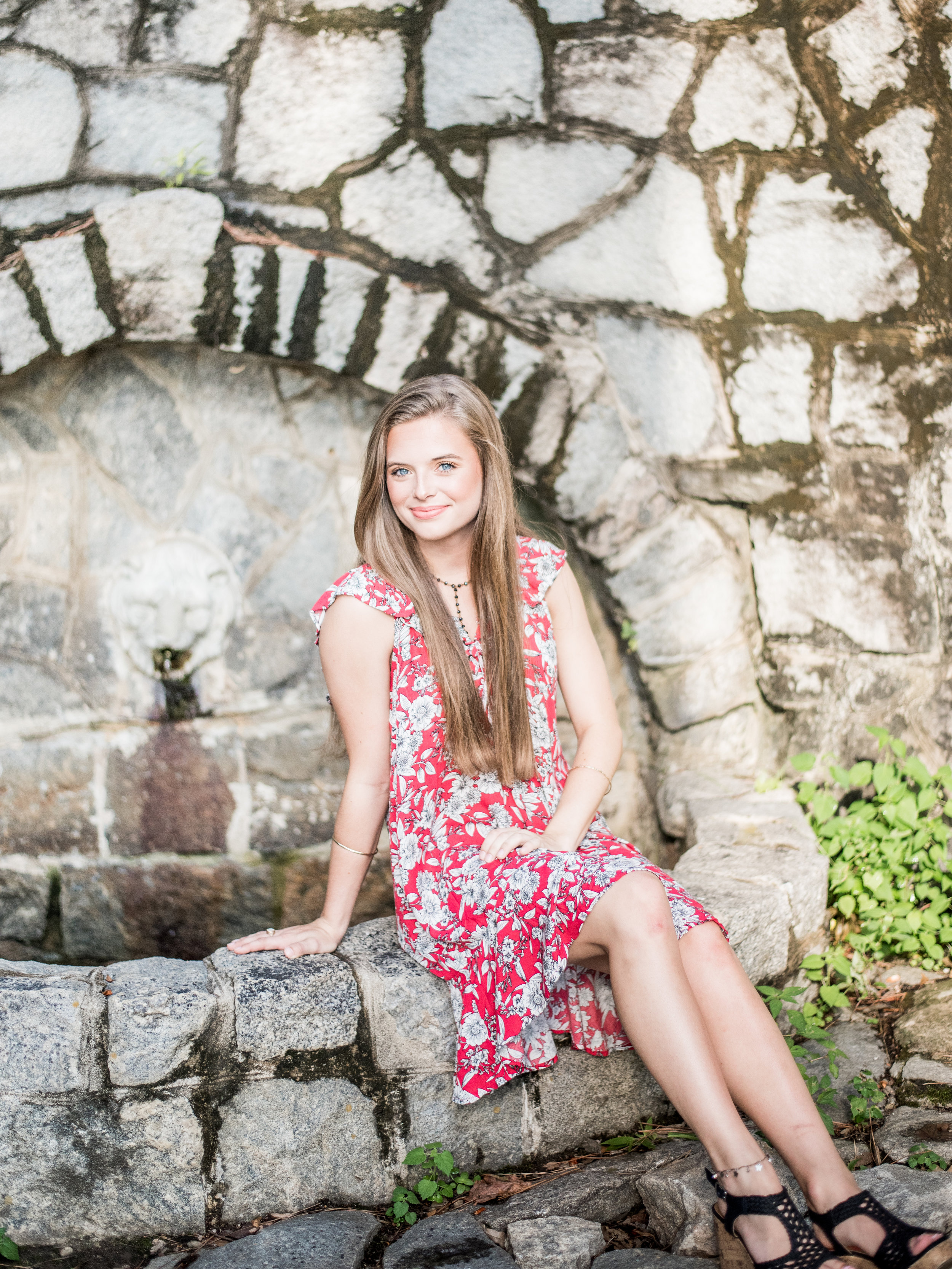 floral dress for senior pictures
