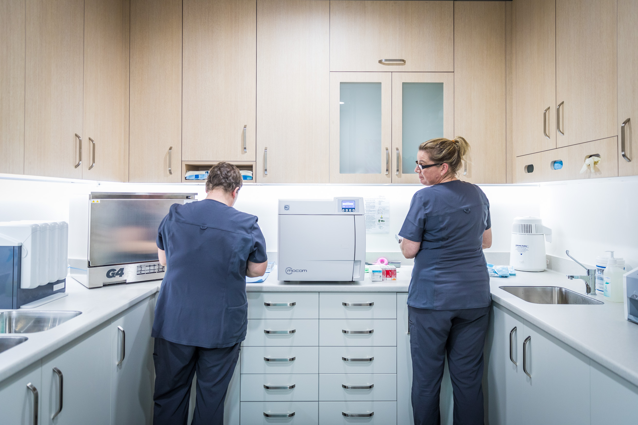 An absolutely vital part of the practice that people usually don't get to see -The sterilising room. It's state of the art and our cross infection control is meticulous.