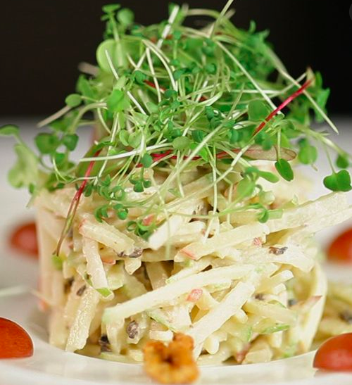 Waldorf Salad with Microgreens