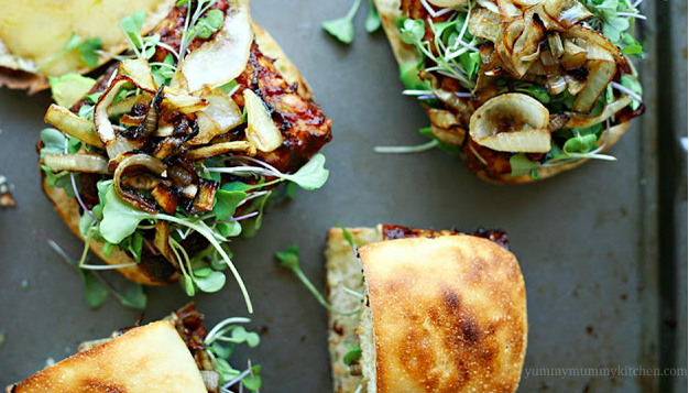 Vegetarian Burgers with Microgreens