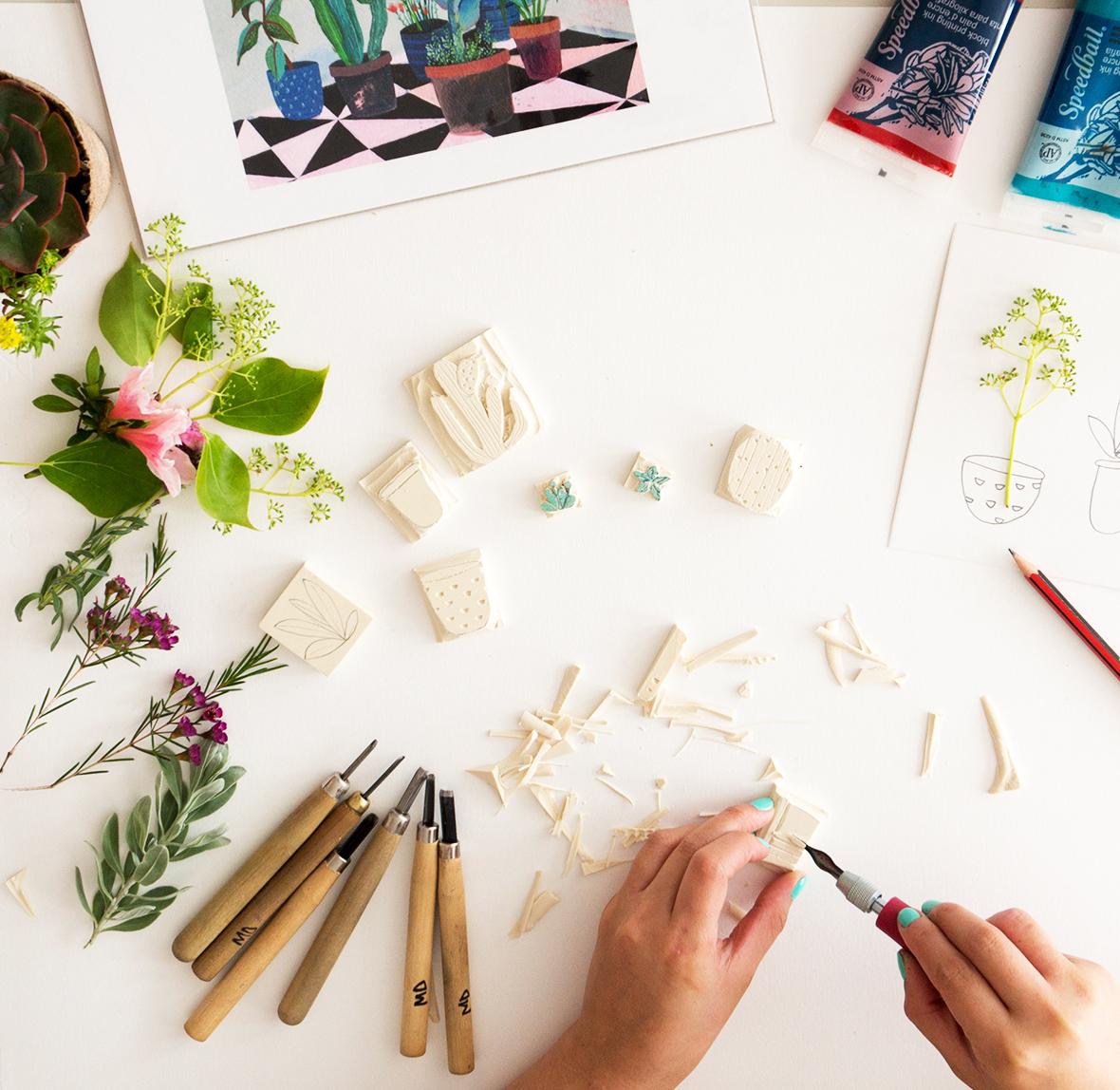 22nd September 2018  Block Printing Workshop at Paper & Brush Studio, Amsterdam