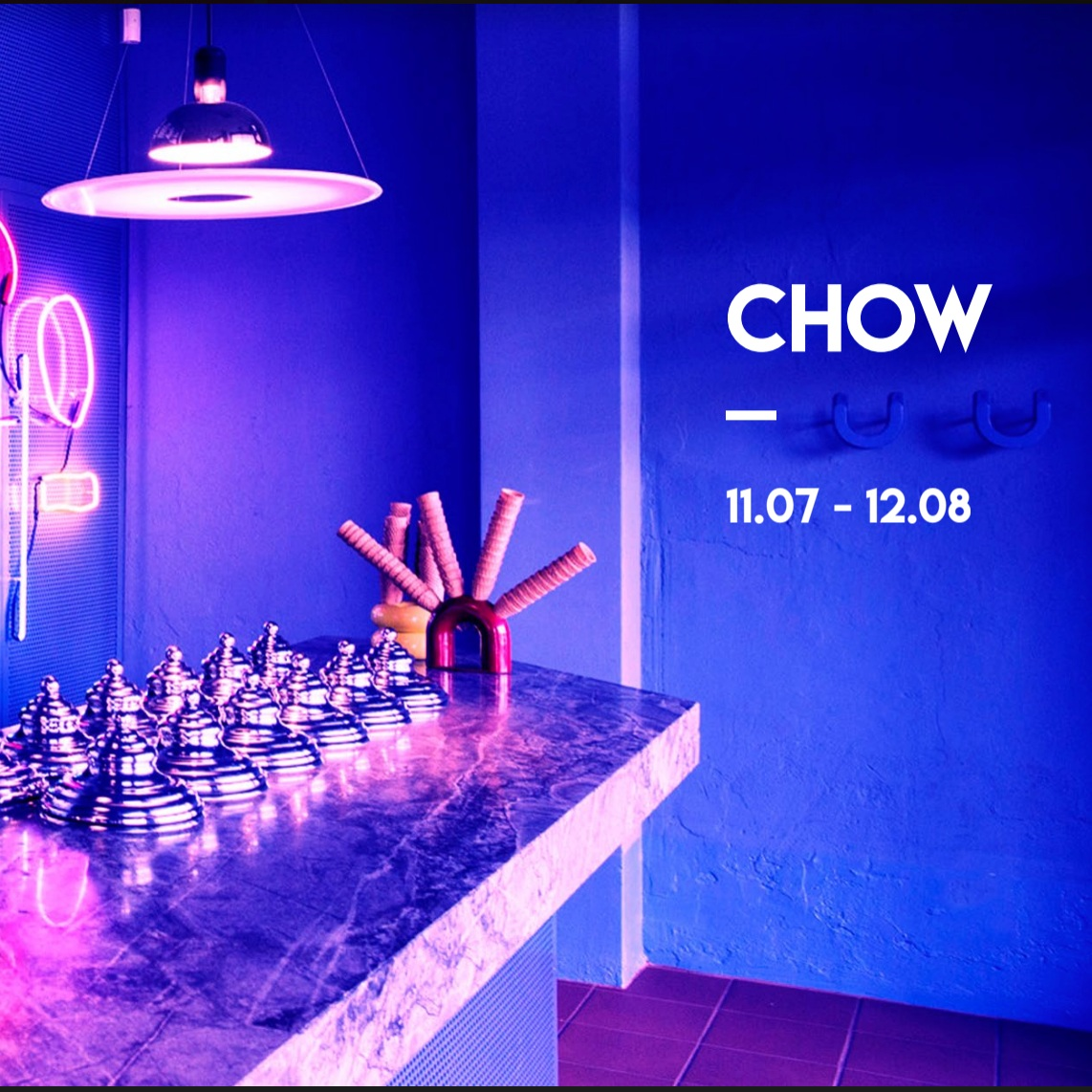 11th July 2019   CHOW exhibition at Chicho Gelato, Perth