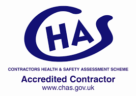 CHAS   Health and safety is an integral part of our company which is why we signed up to the Contractors Health and Safety Assessment Scheme and renew annually. This ensures that our clients can be confident our systems are fully compliant and up-to-date.