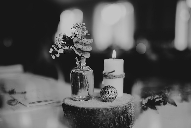 Bröllop med bohemisk naturnära dukning