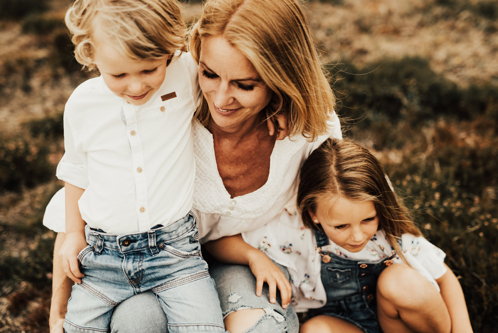 Familjefotografering under sommaren i Halmstad