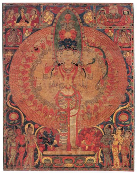 Eleven-Headed, Thousand-Armed Avalokiteshvara      Central Tibet, mid-12th century