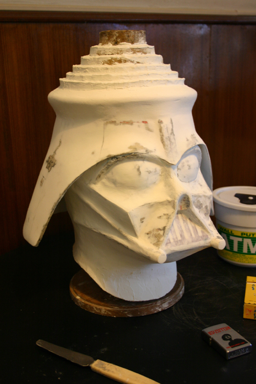 LORD VADER / DARK FATHER mask in progress, 2005.