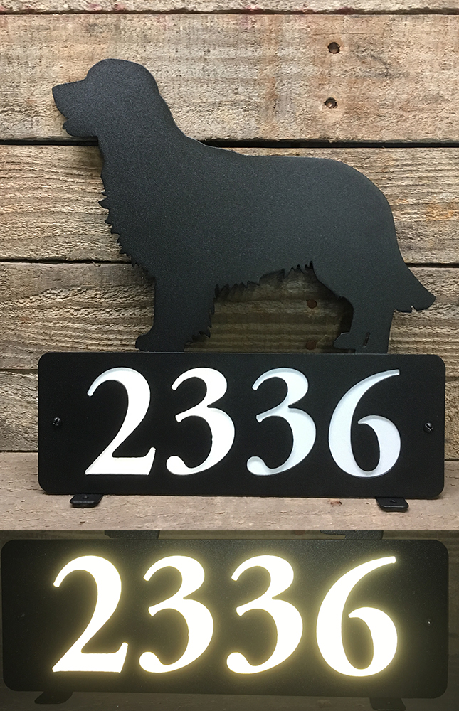 Mailbox Topper with Reflective Numbers Different Size Options