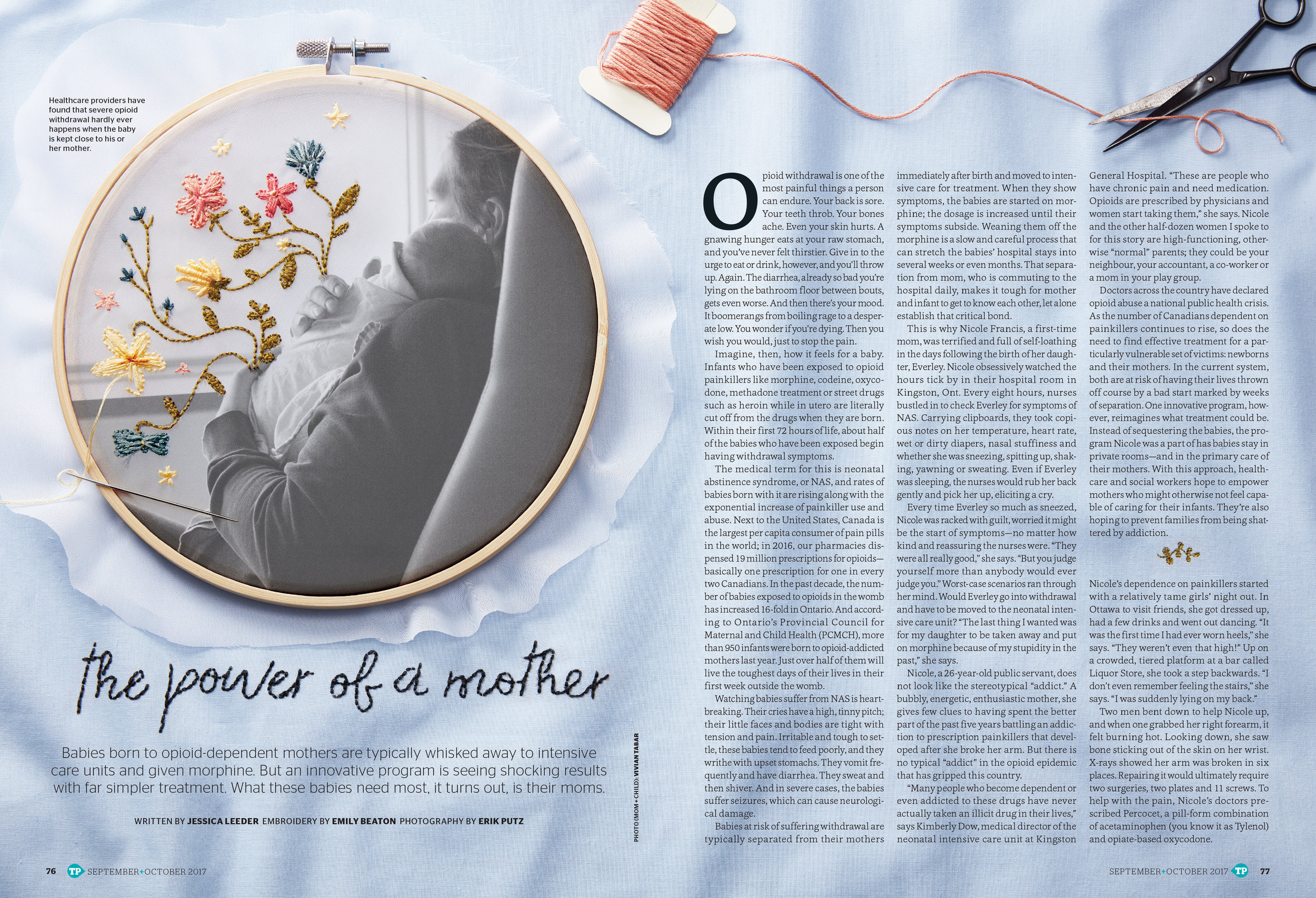 "Hand Embroidery 7""x7"" on organza and broadcloth   Done for Today's Parent Magazine September / October Issue.   AD: Sun Ngo"