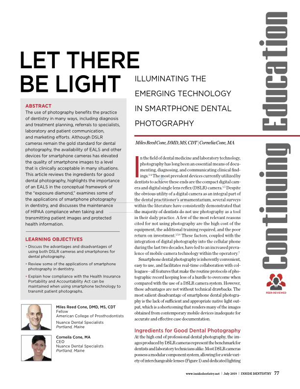 Smartphone Dental Photography and the Emerging Tech Trends -