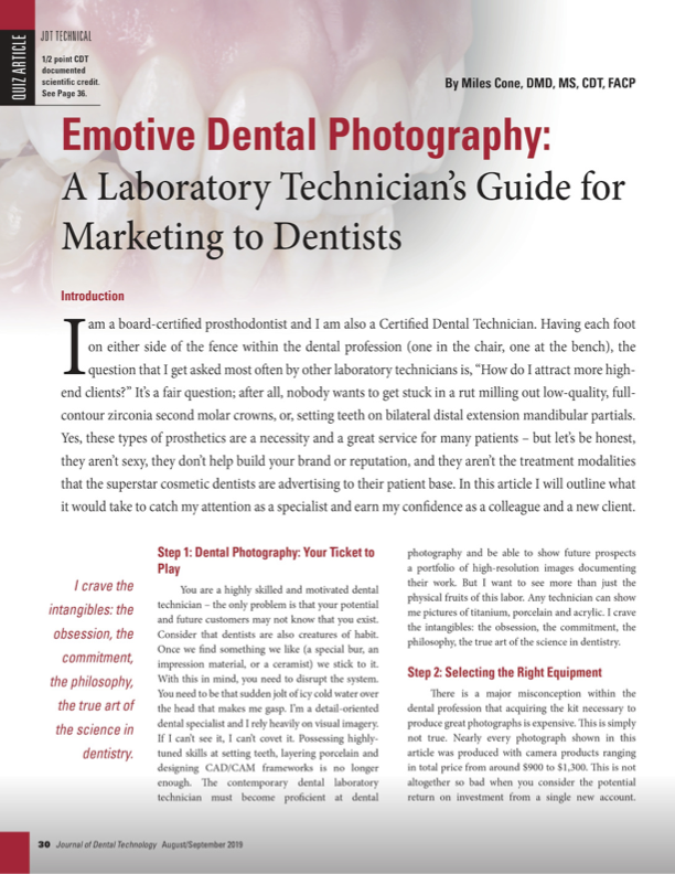 Marketing Your Services: A Photography Guide Dental Technicians -