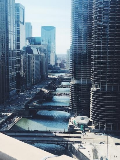 View of the river at  LondonHouse Chicago