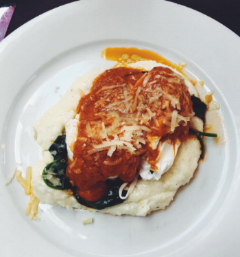 The Truffled Eggs & Spinach at  Atchafalaya
