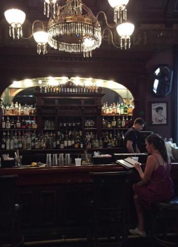 Just sitting all alone at the Sazerac Bar