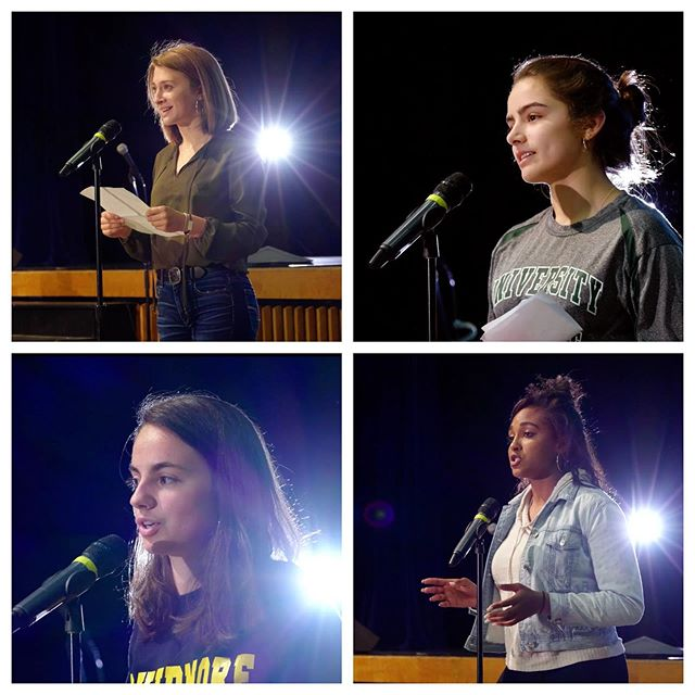Four seniors demonstrated impressive public speaking skills they had honed in GLP, as they delivered parting speeches at the Senior Send-Off in June, talking about the importance of public speaking itself, how learning a language can create a special bond, friendships abroad, and following your passion.