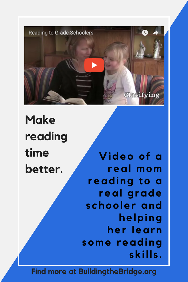 This video will give you some ideas to make reading with your grade schooler more enjoyable and more effective. -