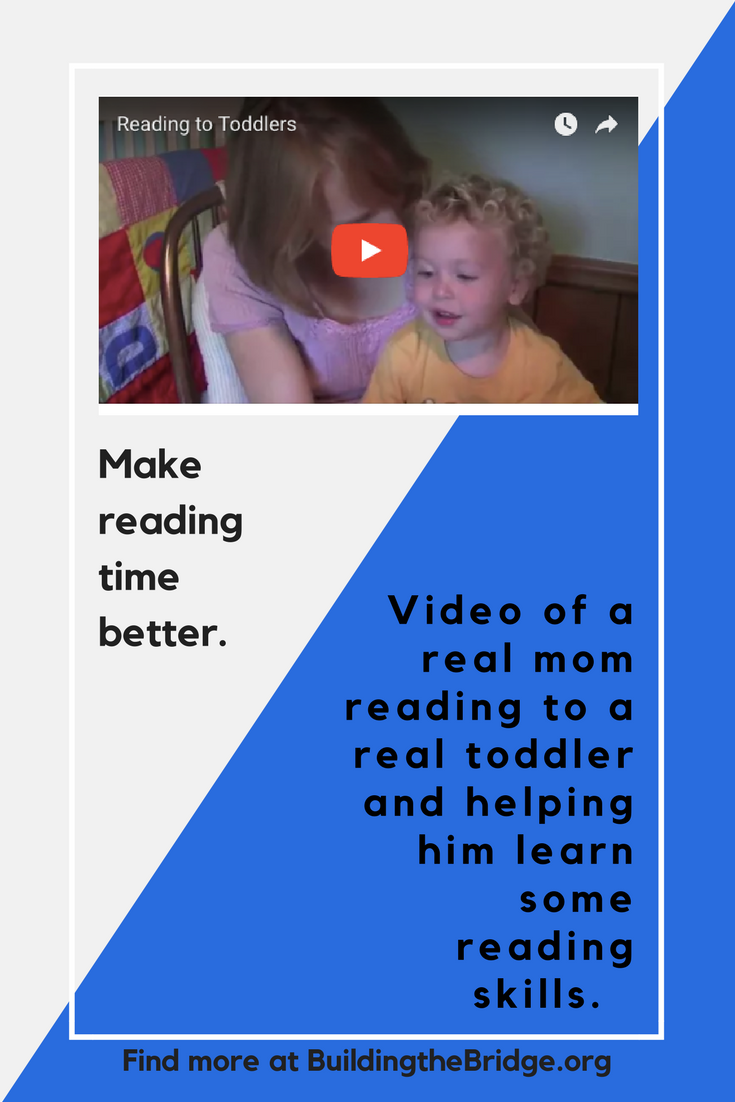 It's never too early to start! Watch this video to get ideas of how you can help your toddler begin to build some reading skills (and have more fun at reading time!) Read here about raising a reader. -
