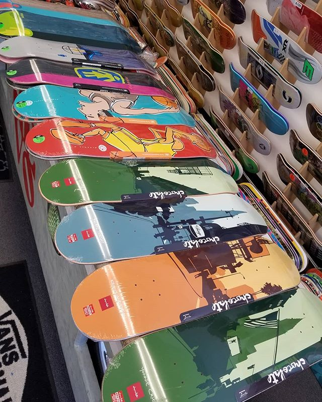 Also grabbed a bunch of new Girl and Chocolate decks! #crailtap